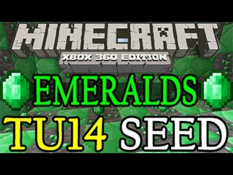 Minecraft ( XBOX 360 / PS3 ) EASY EMERALDS Seed TU17 - Title Update 17 1.07