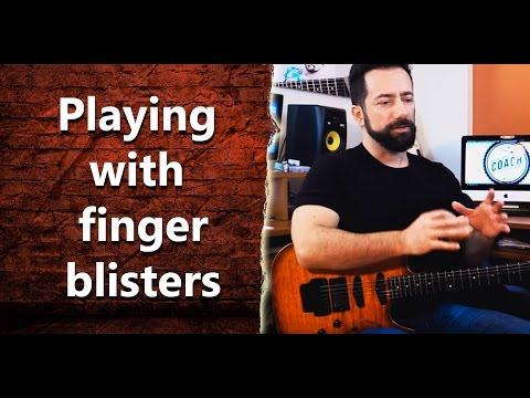 I got blisters on my fingers from guitar playing. Should i continue playing? - INT 023