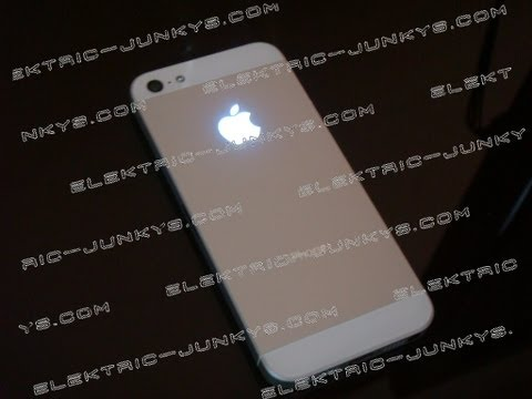 Iphone 5 Mod Iphone 5 In Rot Mit Iglow Leuchtender Apfel Review