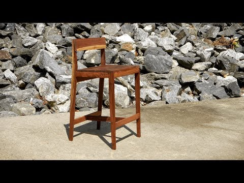 Modern Walnut Bar Stools - How To Build   Woodworking