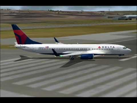 Delta's Boeing 737 arrives Aruba from Atlanta (FS2004)