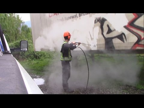 BW Powerwashing langley - Graffiti removal from railcar/semi trailer commercial hot water steaming