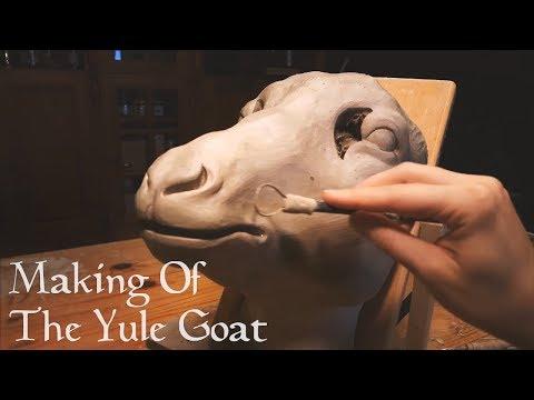 Making of the Yule Goat / Julbocken - Timelapse - Papier maché Mask & Costume
