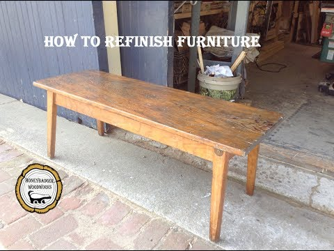 Woodworking : Strip & Refinish Furniture// How-To