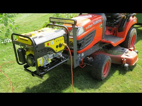 Champion Generator 3650 Watt Power Pod Build For My Lawn & Garden Equipment