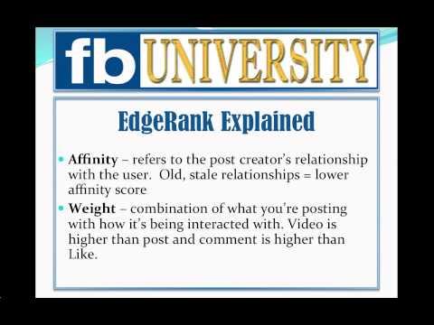 Facebook EdgeRank Explained:  Understanding Facebook's Edgerank Algorithm