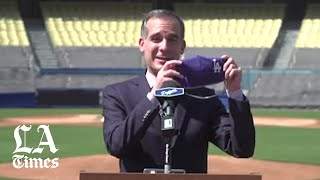 Mayor Eric Garcetti and Dodgers announce opening of California's largest COVID-19 testing facility