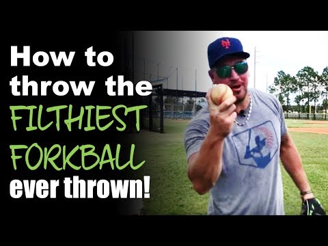 How to throw a forkball [THE FILTHIEST FORK BALL EVER!]