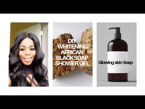 Diy Whitening African Black Soap Shower Gel