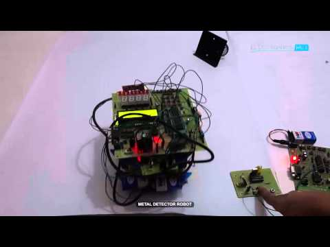 RF Metal Detector Robot using 8051 Microcontroller - Embedded Projects