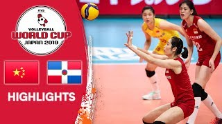 CHINA vs. DOMINICAN REPUBLIC - Highlights | Women's Volleyball World Cup 2019