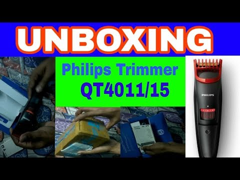 Philips Trimmer QT4011 UNBOXING   Unboxing Philips Trimmer   Philips Trimmer   Best Trimmer