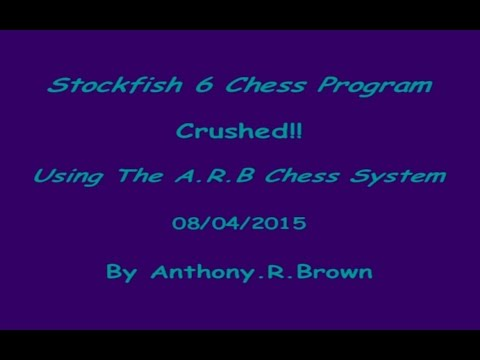 Stockfish 6 Chess Program Crushed!! - Using The A.R.B Chess System