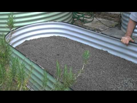 'Above ground' Wicking Raised Garden Bed - Water Installations and Greywater Reuse Sys
