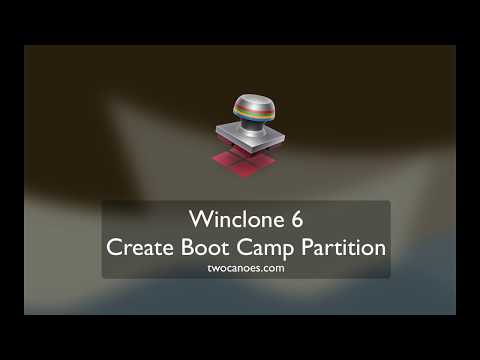 Create Boot Camp Partition in preparation to restore a Winclone 6 image