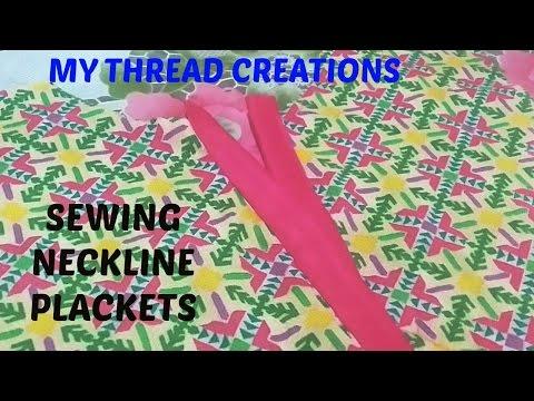 How to make neckline placket