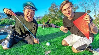 Transforming Carter's Roof Into A Golf Course!!