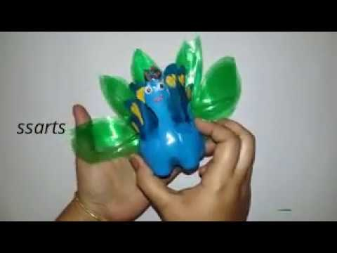 How to make Peacock using with plastic bottle /Best out of the waste /kids crafts