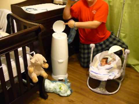 Diaper Genie Elite Review + ( How To Use & Refill )