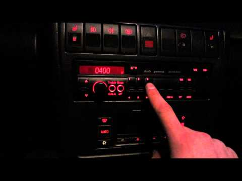 How to enter security code on Audi Gamma radio