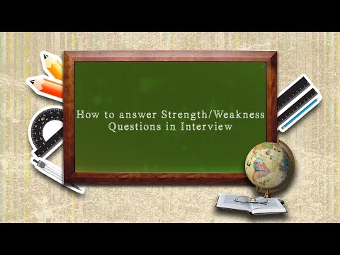 How to answer Strength/Weakness Questions in Interview