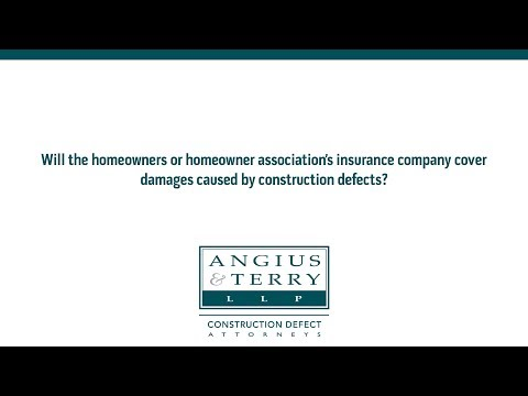Will the homeowners or homeowner association's insurance company cover damages