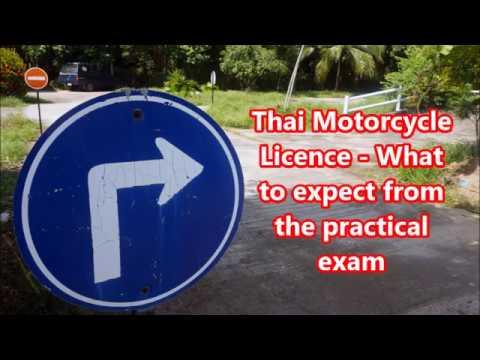 Thai motorbike licence - practical exam