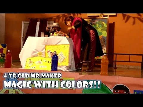 4 yr old Mr. Maker - Magic with Colors | Pre School Class Presentation at Ryan International School