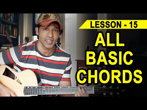 LESSON - 15 ALL THE BASIC CHORDS  (90 Days Basic Guitar Course) By VEER KUMAR