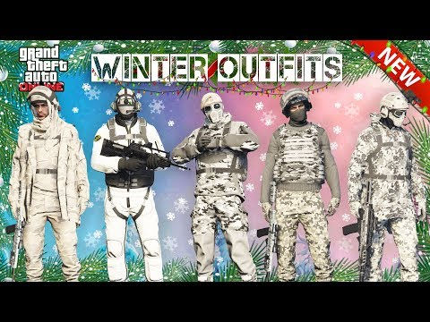 TOP 5 BEST MILITARY WINTER OUTFITS IN GTA ONLINE!