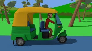 Green rickshaw and a trip around India - Educational trip and show of India