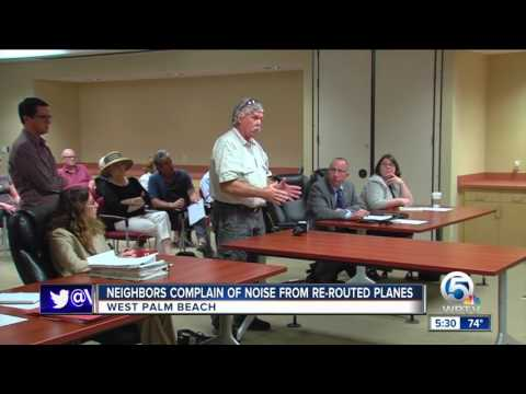 Neighbors complain of noise from re-routed planes
