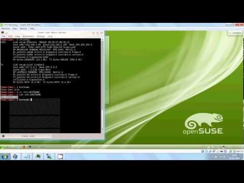 IP and Hostname Setup of OpenSuse in VMBox