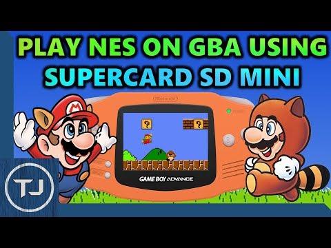 Play NES Roms On GameBoy Advance! (SuperCard SD Mini)