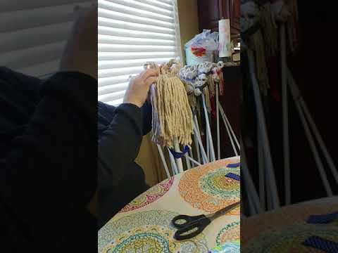 Dollar tree mop hobby horse