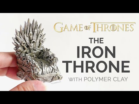 The Iron Throne Miniature with Polymer Clay - Game of Thrones