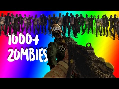 there was 1000+ Zombies!!!