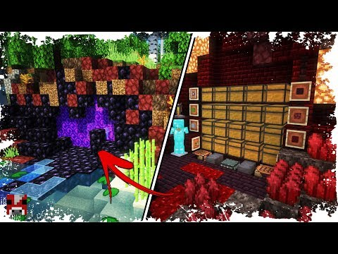 Minecraft Timelapse - BASE behind a NETHER PORTAL! - (WORLD DOWNLOAD)
