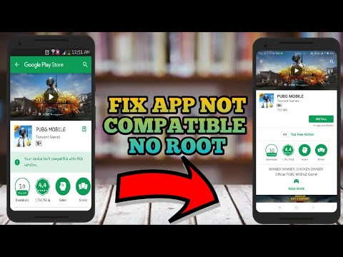 how to install incompatible apps from android market for unsupported devices|Fix not compatible pubg
