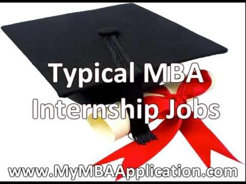MBA Internship Jobs - 3 Common Positions