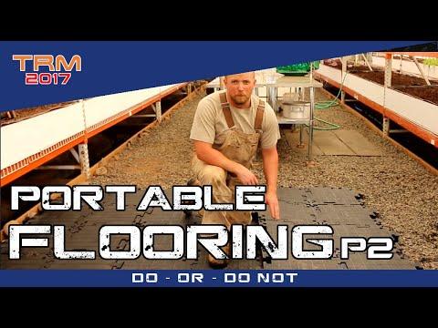 Flooring a Greenhouse with PORTAFLOOR MAX - Part 2