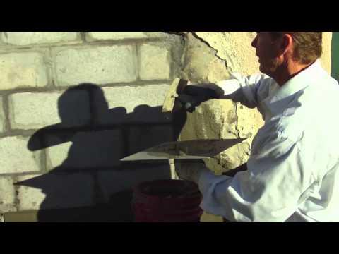 How to stucco a cinder block wall Skim coating CMU walls