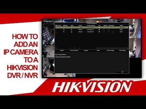 Hikvision - How To Quickly Add An IP Camera To A DVR / NVR (On Same Network) HDSECURE
