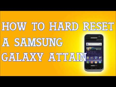 How To Hard Reset A Samsung Attain 4G R920 for MetroPCS