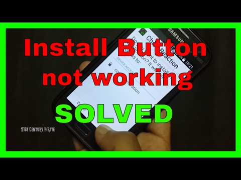 How to fix Install button not working on android smartphone