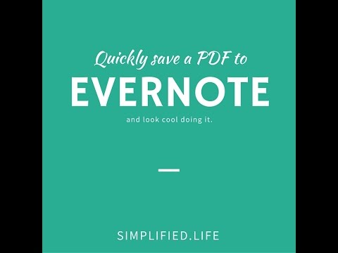 Save a PDF to Evernote with your keyboard