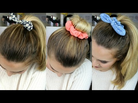 3 Quick & Easy Hairstyles Using Scrunchies | Jamie Johnston