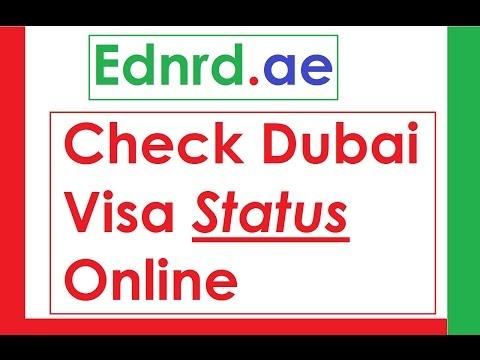 Ednrd.ae Check Dubai Visa Status
