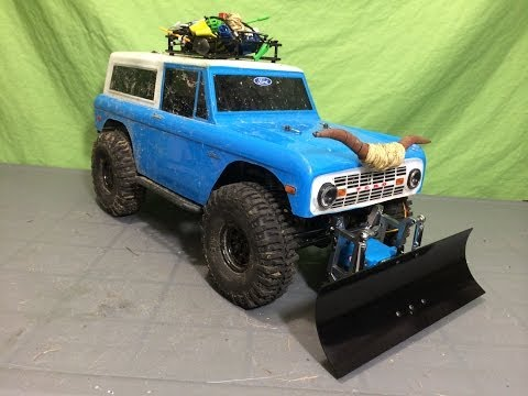 Installing The New RC4WD Blade Snow Plow on my Axial SCX10