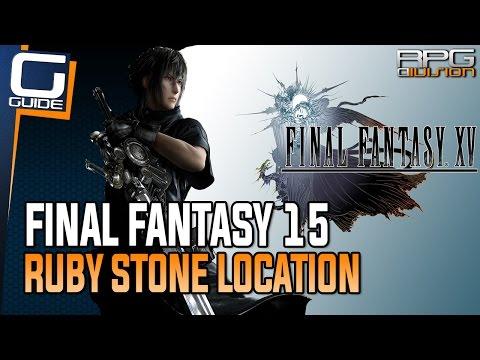 Final Fantasy 15 Guide - Ruby Stone Location (No Pain, No Gem Quest Walkthrough)